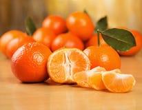Muitos mandarino frescos Fotos de Stock