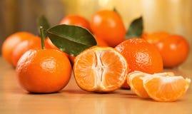 Muitos mandarino frescos Imagem de Stock