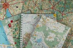 Muitos mapas imagens de stock