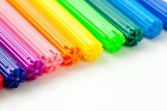 Muitos marcadores coloridos Fotos de Stock Royalty Free