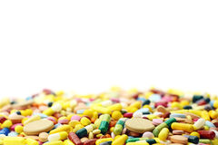 Muitos medicamentação e comprimidos coloridos Fotografia de Stock