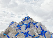 Muitos pacotes do Natal Fotografia de Stock Royalty Free