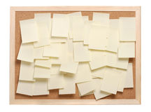Muitos papéis de nota Fotos de Stock