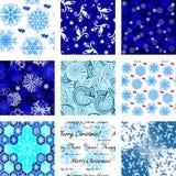 Muitos papéis de parede sem emenda do inverno Fotos de Stock Royalty Free