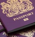 Muitos passaportes britânicos Fotografia de Stock