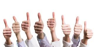 Muitos polegares acima Fotografia de Stock Royalty Free