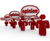 Muitos povos que compartilham dos críticos das opiniões que falam a opinião da palavra Fotografia de Stock