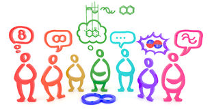Muitos povos veem uma coisa nos aspectos diferentes (3D) Imagem de Stock Royalty Free