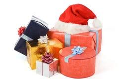Muitos presentes coloridos Fotografia de Stock
