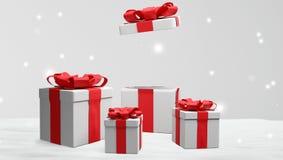 Muitos presentes com a fita no Natal 3d-illustration ilustração royalty free