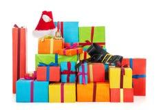 Muitos presentes de Natal Foto de Stock Royalty Free