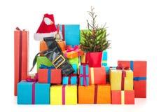 Muitos presentes de Natal Imagens de Stock
