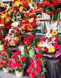 Muitos ramalhetes em um florista Foto de Stock Royalty Free