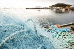 Muitos redes e flutuadores de pesca Fotos de Stock Royalty Free