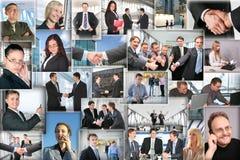 Muitos retratos do negócio, colagem fotografia de stock royalty free
