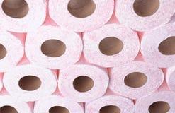Muitos rolos de papel higiênico como o fundo fotografia de stock