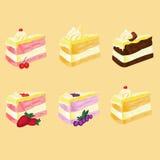 Muitos sabor do bolo Foto de Stock
