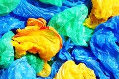 Muitos sacos de plástico coloridos Fotos de Stock Royalty Free