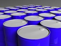 Muitos tambores do azul Fotografia de Stock