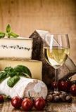 Muitos tipos de queijo francês Fotografia de Stock Royalty Free