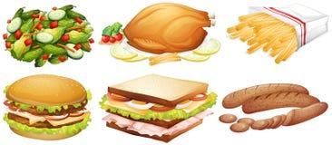 Muitos tipos do alimento ilustração royalty free