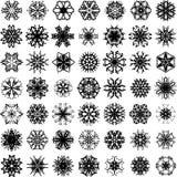 Muitos vector flocos de neve Foto de Stock