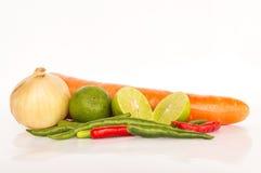 Muitos vegetais no isolado Imagem de Stock Royalty Free