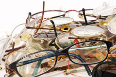 Muitos vidros muitas cores imagem de stock