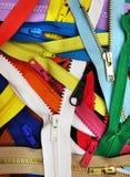 Muitos zippers Imagens de Stock Royalty Free
