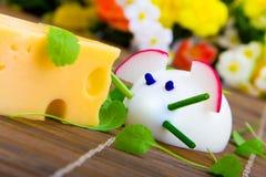 Muizen die van eieren met kaas worden gemaakt Royalty-vrije Stock Foto