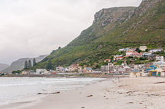 Muizenberg beach on a gloomy morning Royalty Free Stock Photography