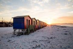 Muizenberg bud wschód słońca obraz stock