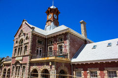 Muizenberg Station. The iconic and historic building housing the Muizenberg train station in Western Cape, South Africa Stock Photography