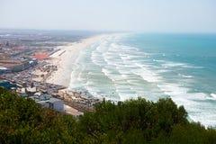 Muizinberg海滩顶视图在开普敦 免版税库存照片