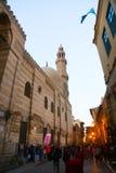 Muizz街道老fatemid开罗,埃及 免版税库存图片