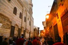 Muizz街道老fatemid开罗,埃及 库存照片