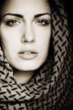Mujer árabe con la perforación Fotografía de archivo libre de regalías