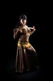 Mujer árabe hermosa con la espada Fotografía de archivo