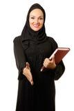 Mujer árabe, sonrisa vestida tradicional Fotografía de archivo libre de regalías