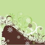 Mujer abstracta floral, vector Imagen de archivo libre de regalías