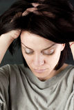 Mujer abusada triste Fotografía de archivo