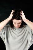 Mujer abusada triste Imagenes de archivo