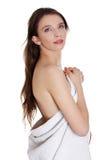 Mujer adolescente hermosa joven con la toalla Fotos de archivo libres de regalías