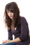 Mujer adolescente joven con la depresión Imagen de archivo libre de regalías