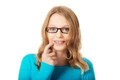Mujer adolescente pensativa Imagenes de archivo