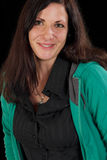 Mujer afortunada con la perforación Imagen de archivo libre de regalías
