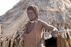Mujer africana ciega Fotografía de archivo libre de regalías