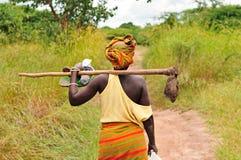Mujer africana del granjero Fotografía de archivo