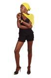 Mujer africana en el partido fotos de archivo libres de regalías