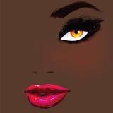Mujer africana hermosa ilustración del vector